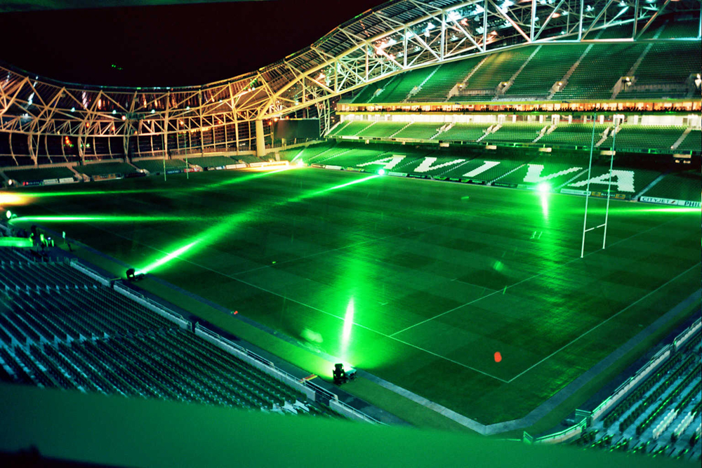 Aviva Stadium pitch lighting