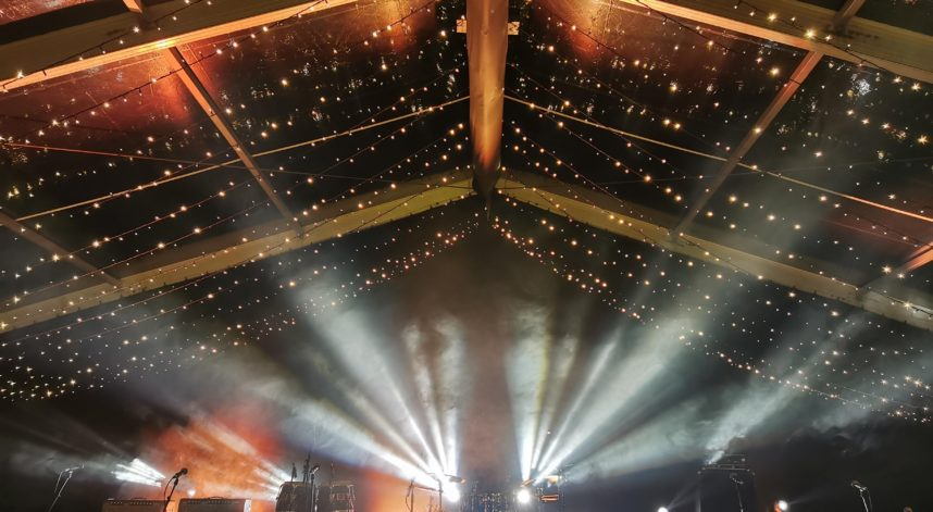 Stage With Fairy Light Roof