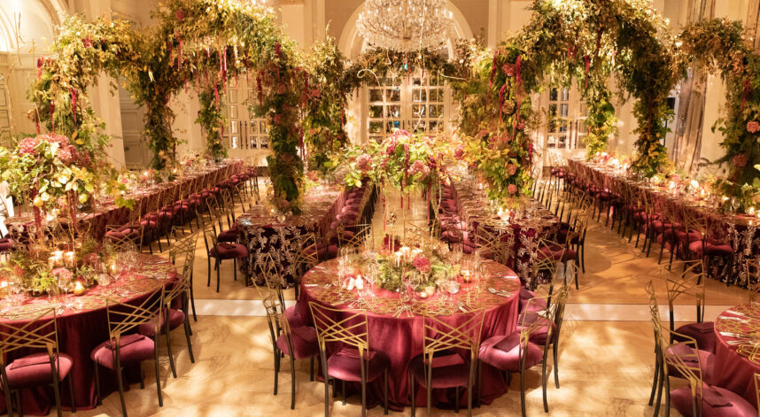Tables with Floral arches